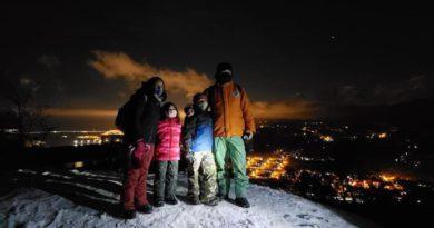 Se realizaron las primeras caminatas familiares nocturnas con amplia convocatoria