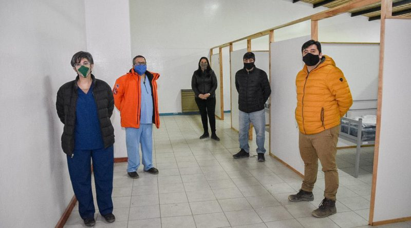 El municipio equipó el hospital de campaña de Tolhuin